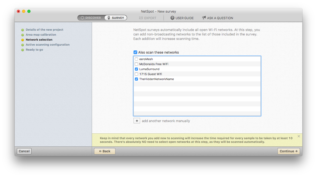 How do I scan for hidden SSIDs in NetSpot PRO — NetSpot Help