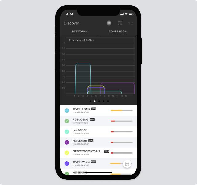 Channel overlap - NetSpot for iOS