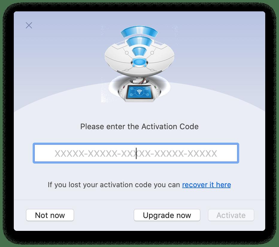 paste activation code