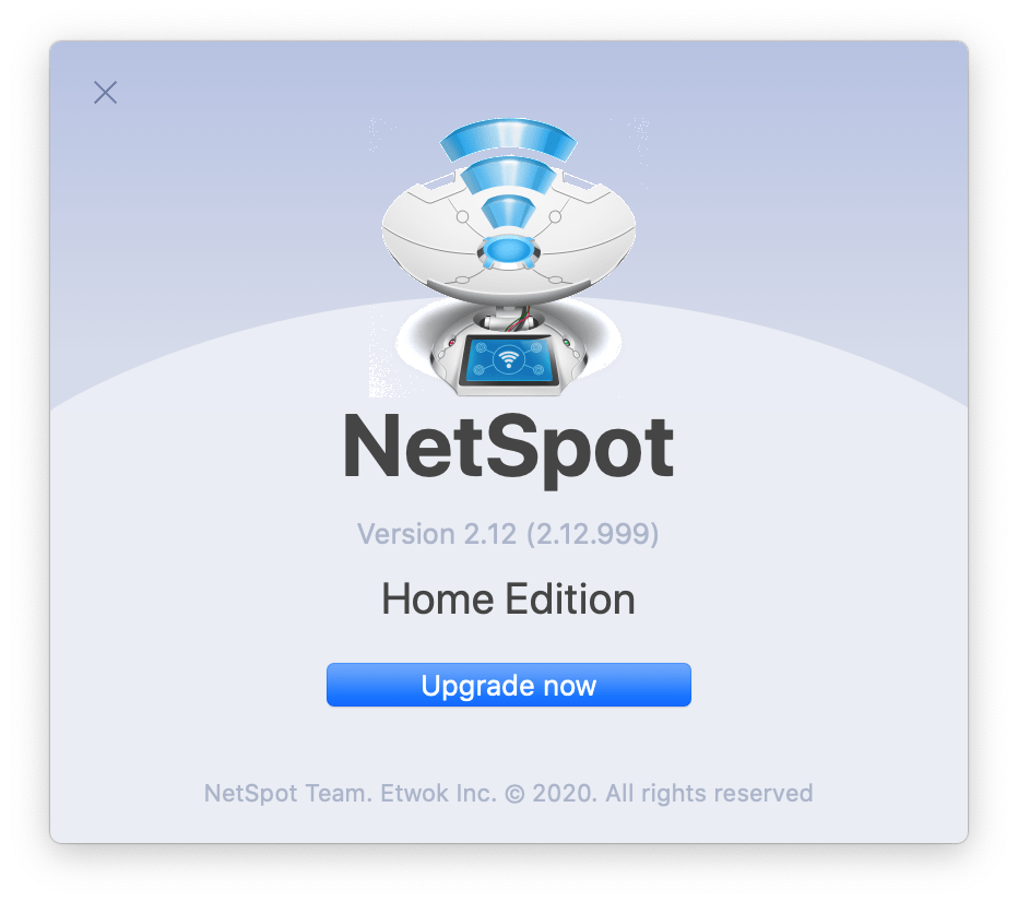 Your version of NetSpot