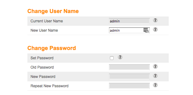 Change router login password